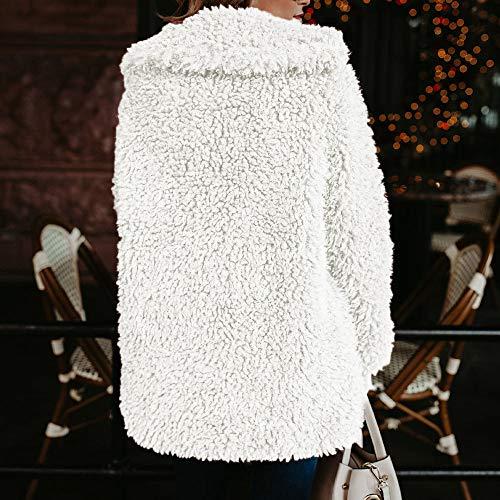 Autunno Manica Moda Corto Pelliccia Lunga Cappotto Giacca ❤ Donna Outwear Vicgrey Inverno Pullover Sintetica Bianco Di Parka Casuale Cardigan Invernale Lana fUFPFq