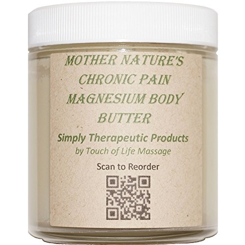 Mother Nature's Chronic Pain Magnesium Body Butter, All-Natural Product (Body Butter Touch)