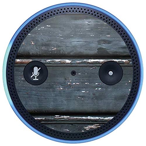 Skinit Wood Amazon Echo Plus Skin - Chipped Blue Wood Design - Ultra Thin, Lightweight Vinyl Decal Protection