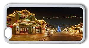 Durable iPhone 6 Plus Case Cover, Disneyland Main Street Decorations In Christmas TPU Rubber Soft Case for iPhone 6 Plus 5.5inch White