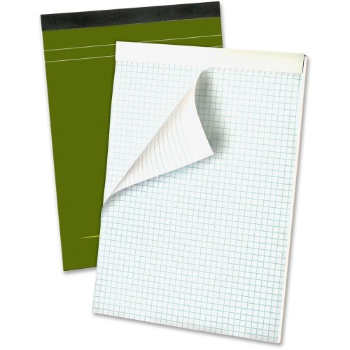 Ampad Gold Fibre Premium Pad, Letter Size, Quad Ruled, 80 Sheets, Classic Green