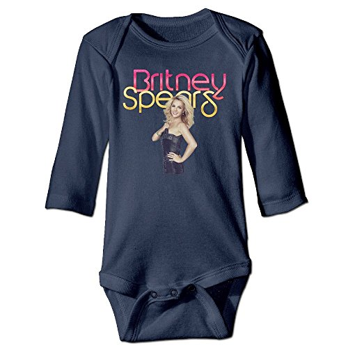 [DELPT Britney Spears Poster Cute Infant Baby's Climb Jumpsuit 12 Months Navy] (Britney Spears Costumes)