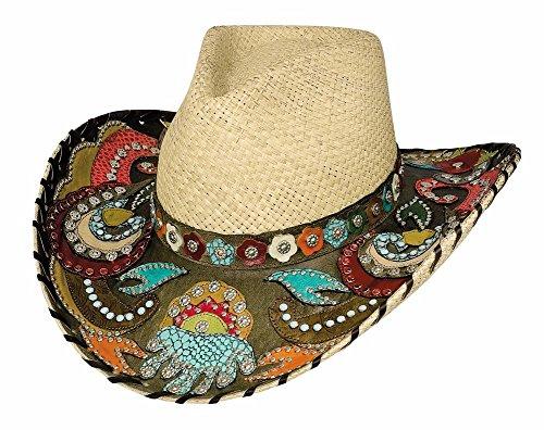 Montecarlo Bullhide Hats GYPSY QUEEN Panama Straw Western Cowboy Hat (Small) by Montecarlo / Bullhide Hats