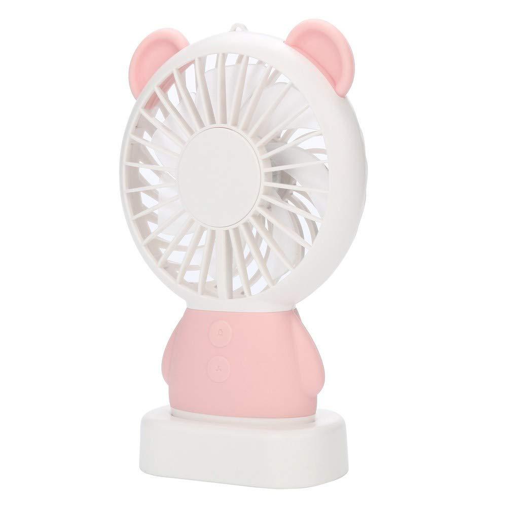 CAOQAO - Mini luz LED de Colores, Ventilador USB, 2 velocidades ...