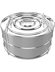 ekovana Stackable Stainless Steel Pressure Cooker Steamer Insert Pans for Instant Pot Accessories - Fits 5,6 & 8 qt