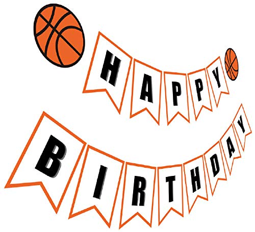 Basketball Birthday Decorations - Silvima Basketball Birthday Banner | Basketball