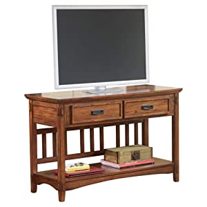 Ashley Furniture Signature Design - Cross Island Sofa Console Table - Vintage Casual - Medium Brown