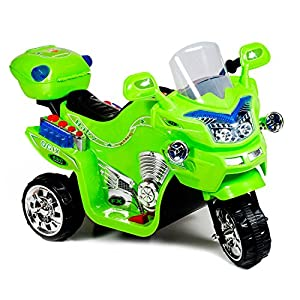 Lil' Rider Fx Wheel 6v Battery Powered Motorcycle, Kids Electric Motorcycle, Green