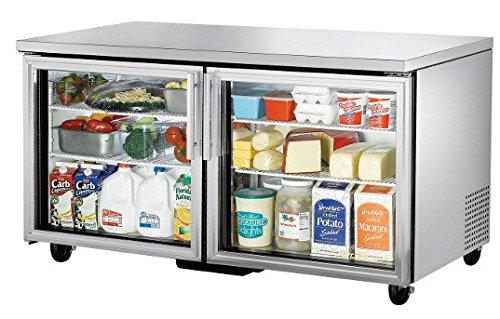 Door Undercounter Refrigerator 3 (True TUC-60G Series Glass Door Three Section Undercounter Refrigerator)