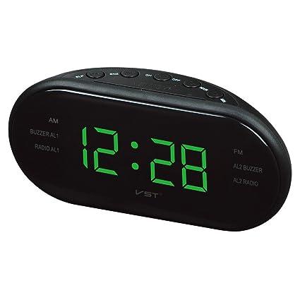 Radio Reloj despertador, FM / AM Reloj despertador digital Radio Reloj despertador con alarmas dobles