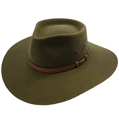Akubra Territory Hat - Khaki - Beige -  Amazon.co.uk  Clothing 90ce5ed9e46d