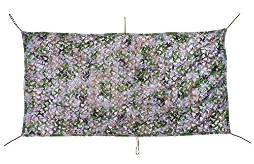 NINAT Camouflage Net 13x16.5ft Digital Woodland Camo Netting for Camping Military Hunting Shooting Multicolor Sunscreen Nets by NINAT (Image #2)