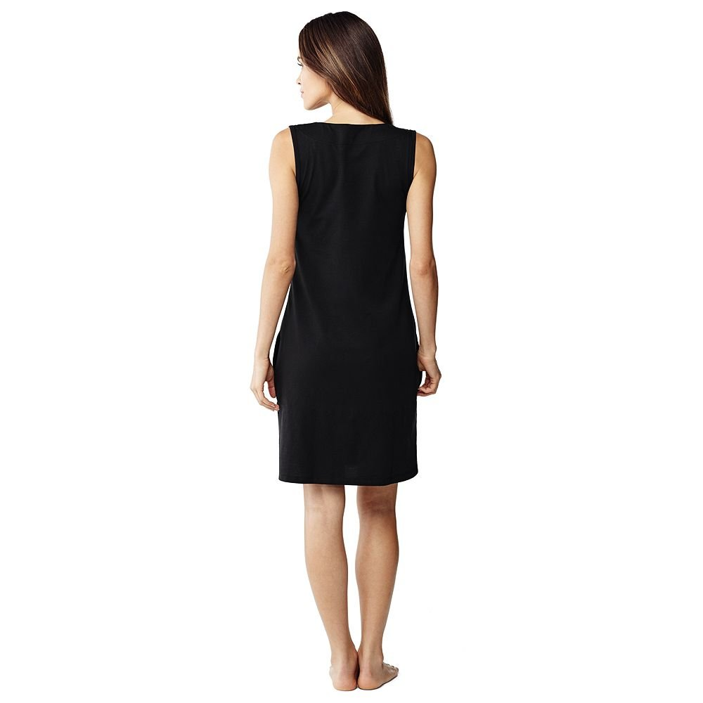 Lands' End Women's Cotton Jersey Tunic Dress Cover-up, XL, Black by Lands' End (Image #3)