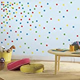 RoomMates RMK2714SCS Primary Confetti Dots Peel and Stick Wall Decals