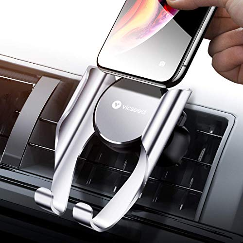 VICSEED Car Phone Mount, Air Vent Phone Holder, Handsfree Cell Phone Car Mount Compatible iPhone XR Xs Max Xs X 8 7 6 Plus, Compatible Samsung Galaxy S10 S10+ S10e S9 S8 S7 LG Google etc.