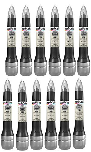 Dupli-Color White Diamond All-in-1 Scratch Fix Pen for GM Vehicles - 98, 800J (2006-2016) - 12 Pack