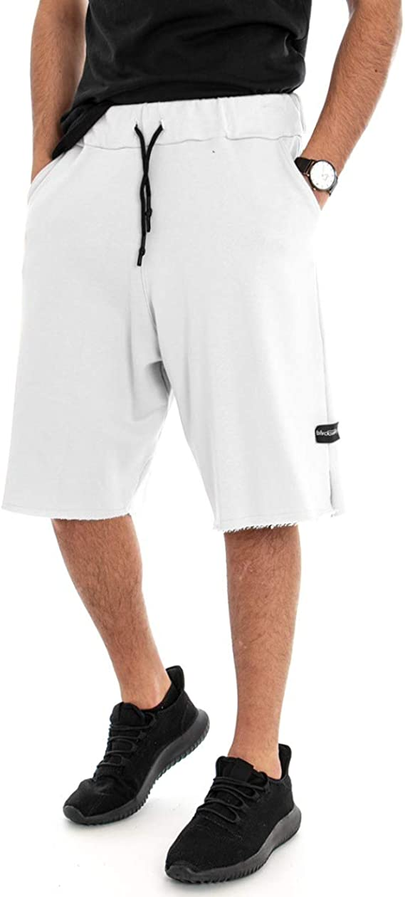 Giosal Bermuda Chándal Hombre Pantalón Corto Blanco Elástico ...