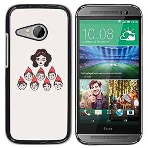 Slim Design Hard PC/Aluminum Shell Case Cover for HTC ONE MINI 2 / M8 MINI Character Seven Princess / JUSTGO PHONE PROTECTOR