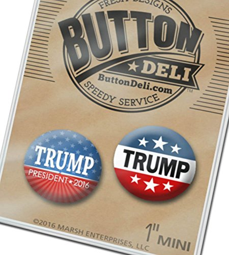 2-Donald-Trump-Campaign-Mini-Buttons-Set-C-Lapel-Pins-Assorted-Designs