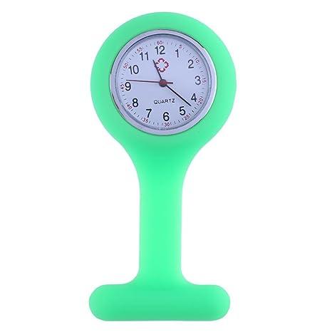 Everpert - Reloj de enfermera, correa de silicona, reloj médico para enfermería