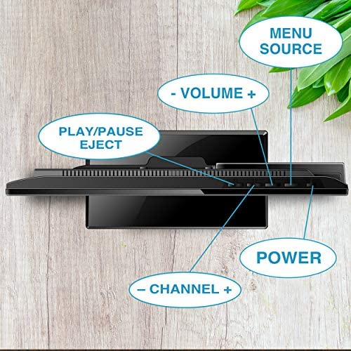 Axess TVD1805-15 LED HDTV Includes AC/DC TV DVD Player HDMI/SD/USB Inputs, Wall Mountable, Stereo Speaker (15.6 Inch) 51owVkMQgoL
