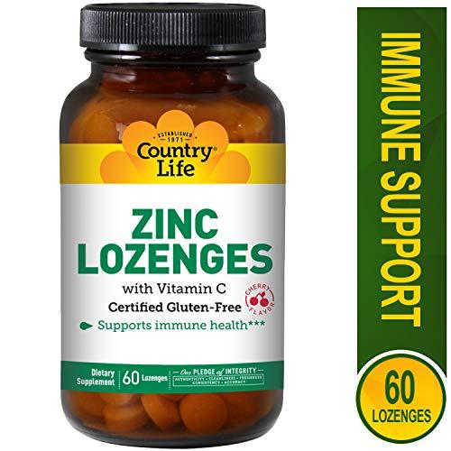 - Country Life Zinc Lozenges Cherry - 60 Lozenges