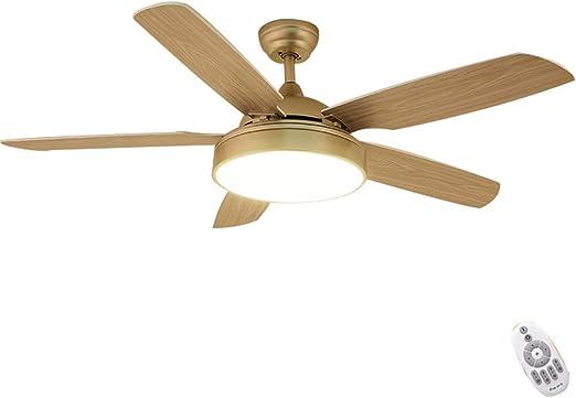YX Ceiling Fans Lámpara de techo LED regulable con luz de ventilador de techo con motor silencioso Aspas retráctiles invisibles y control remoto, para sala de estar, dormitorio, restaurante, estilo: Amazon.es: Hogar