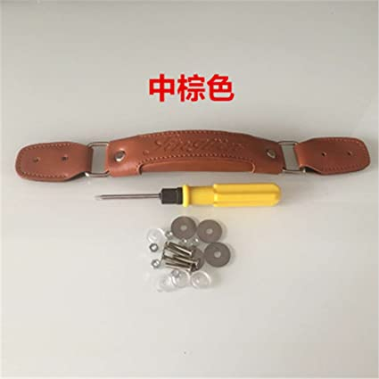 348edeee57a4 Amazon.com: Replacement Luggage Parts Handle PU Leather For Repair ...