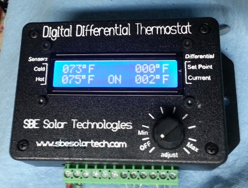 (SBE Solar Tech Digital Differential Thermostat w/Pwr Supply and Solid State Relay )