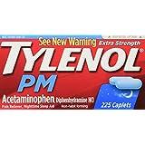 Tylenol PM Extra Strength Pain Reliever + Sleep Aid, 225-Caplets
