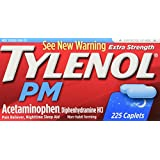 Tylenol PM Extra Strength Pain Reliever + Sleep Aid, 225-Caplets