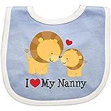 Inktastic Baby Boys' I Love My Nanny Baby Bib