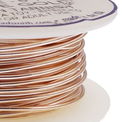 Beadsmith 0.8mm (20ga) Non-Tarnish Craft Wire - Rose Gold - 5.4m (6yd)
