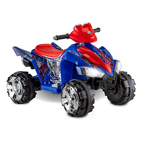Spiderman Little Quad Battery Operated Riding Toy - Red/Blue (6 Volts) - kid's - toy's - soft - playing - rocking - children - Comfort Seat, Tough ATV Traction Tires - Stylish - Designable and stylish - Exclusive Collection. ()