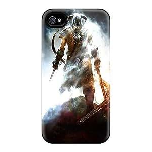 Hot Design Premium Syt1361HmsP Tpu Case Cover Iphone 4/4s Protection Case(elder's Scroll V Skyrim)