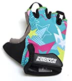 ZippyRooz Toddler & Little Kids Bike Gloves for Balance and Pedal Bicycles (Formerly WeeRiderz) for Ages 1-8 Years Old. 6 Designs for Boys & Girls (ZR Stars, Little Kids Medium (3-4))