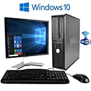 "Dell Optiplex 780 Desktop (2.93 GHz Intel Core 2 Duo Processor, 8GB RAM DDR3, 250GB Hard Drive, Windows 10 Professional x64) 19"" inch LCD Monitor , USB keyboard and mouse, WiFi Adapter"