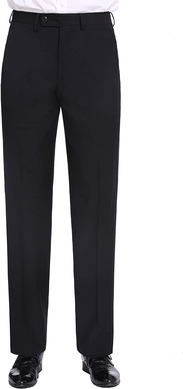 P/&L Mens 2-Piece Classic Fit Suit Blazer Jacket Tux /& Flat Front Pant