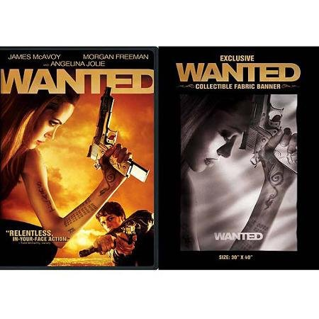 WANTED --EXCLUSIVE DVD AND COLLECTIBLE FABRIC BANNER ()