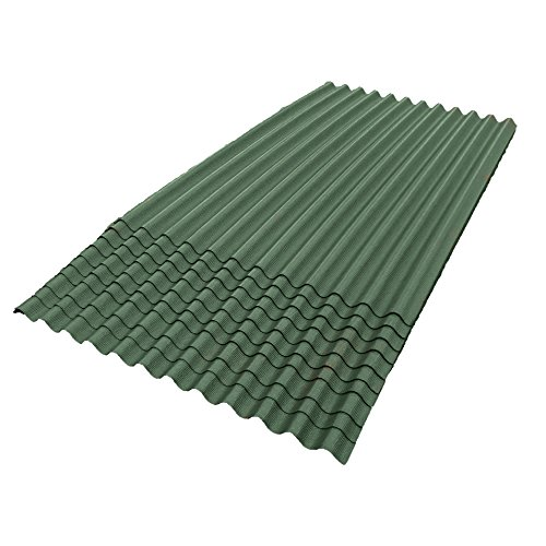 ONDURA 104 Corrugated Asphalt Roofing (10-Pack), Green by ONDURA