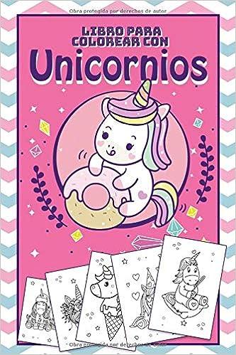 Libro Para Colorear Con Unicornios Plantilla De Unicornio