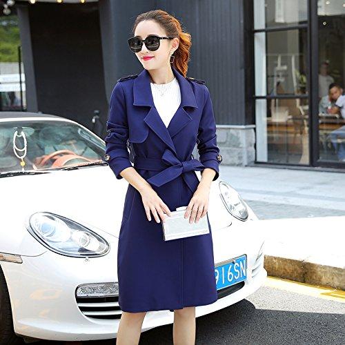 Navy SCOATWWH Jackets nbsp;Female Liberal blue Women'S amp; Windbreaker Spring Jacket Women'S Coats Long Ofq1O