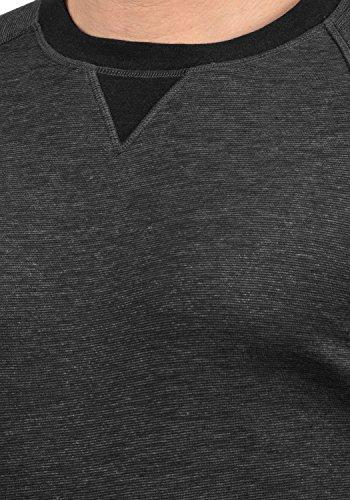solid Avec Homme Pour shirt Encolure Sweat Vituneck En 8254 Pull Grey Rond Sweat Med qFRxrqB8w