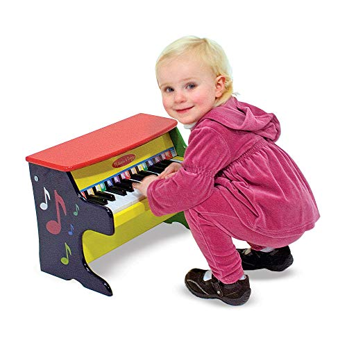 "51owZ8q6pBL - Melissa & Doug Learn-to-Play Piano, Musical Instruments, Solid Wood Construction, 25 Keys and 2 Full Octaves, 11.5"" H x 9.5"" W x 16"" L"