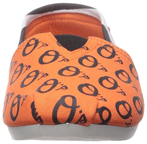 Baltimore Orioles Women's MLB Slip On Canvas Stripe Shoe Slippers
