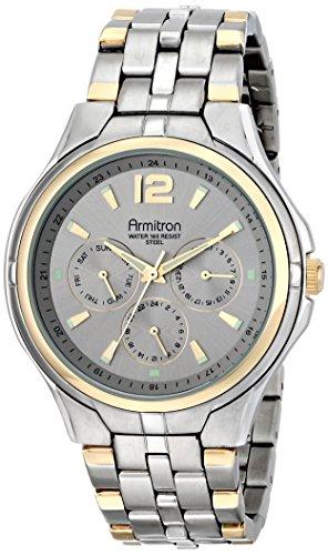 Armitron Men's 20/4966SVTT Multi-Function Grey Sunray Dial Two-Tone Bracelet Watch