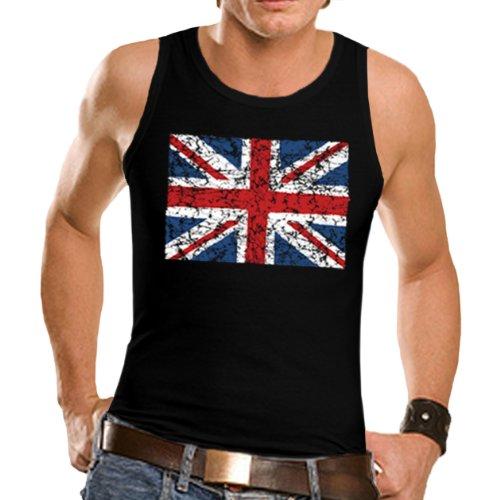 Wellcoda | British England Flag London Men T-Shirt NEW Tank Black XL