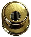 Mr-Mondial MRKIT1ORO Protezione Cilindro Defender con Cover, Mostrina e 2 Viti 12.9, Oro