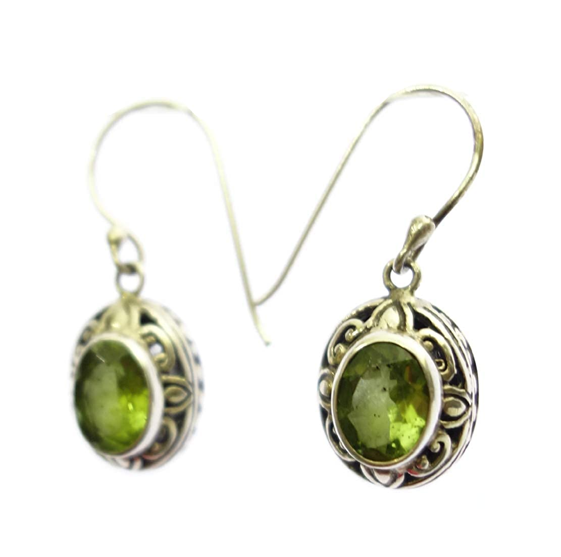 AUGUST BIRTH STONE UNIQUE DESIGNER EARRING JEWELRY BY ARTISANS HANDMADE FASHION DROP DANGLE 925 STERLING SILVER NATURAL PERIDOT GEMSTONE EARRING FOR WOMEN /& GIRLS