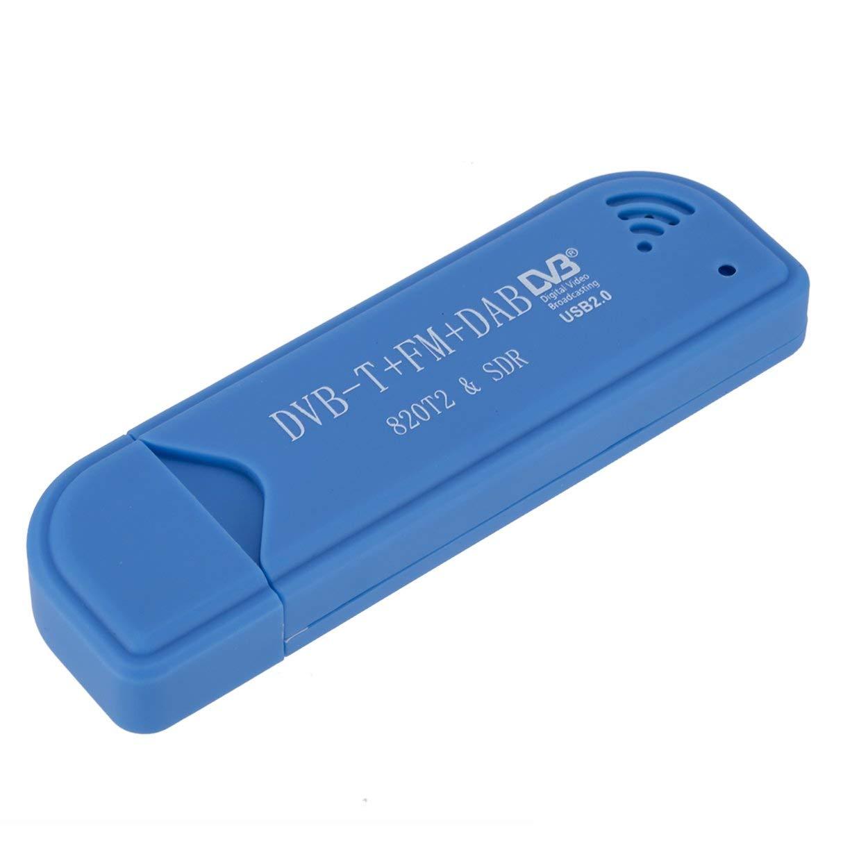Lorenlli D/écodeur TNT Dab FM r/écepteur Mini-USB RTL-SDR /& ADS-B RTL2832U et R820T